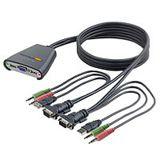 Belkin OmniView 2xUSB KVM-Switch mit integriertem Kabelsatz