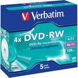 Verbatim DVD-RW 4.7 GB 5er Jewelcase (43285)