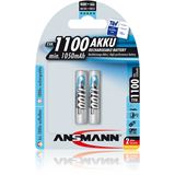 ANSMANN HR03 Nickel-Metall-Hydrid AAA Micro Akku 1050 mAh 2er Pack