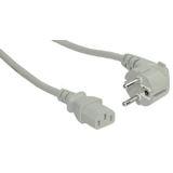 (€2,75*/1m) 1.80m InLine Stromkabel gewinkelt Schutzkontakt Stecker auf Kaltgeräte Stecker C19 Grau