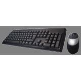 Perixx Corded Desktop Periduo 101 Tastatur+Maus Schwarz Deutsch PS/2
