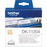 Brother DK-11204 Universal-Etiketten 1.7x5.4 cm (1 Rolle)