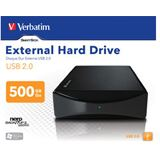 "500GB Verbatim External Hard Drive 47510 3.5"" (8.9cm) USB 2.0"