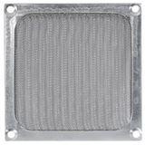 Cooltek Alu Lüftergitter mit Filter für 120mm Lüfter silber (Gitter 120 Filter - silber)