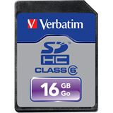 16 GB Verbatim Standard SDHC Class 6 Bulk