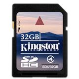 32 GB Kingston Standard SDHC Class 4 Retail
