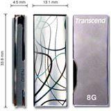 2 GB Transcend JetFlash V90C schwarz/silber USB 2.0