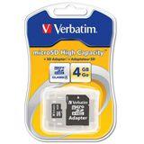 4 GB Verbatim microSD SDHC Class 4 Retail