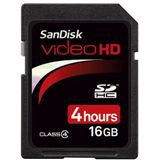 16 GB SanDisk Video HD SDHC Class 4 Bulk