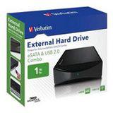 """HDE 1000GB Verbatim External Hard Drive 3.5"""" (8.89cm) Schwarz"""