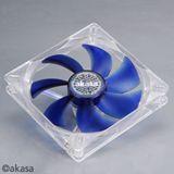 Akasa AK-195-BL 140x140x25mm 1000 U/min 19 dB(A) blau/transparent