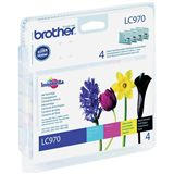 Brother Tinte LC-970 Value Pack LC970VALBP schwarz, cyan, magenta,