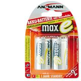 ANSMANN maxE HR14 Nickel-Metall-Hydrid C Baby Akku 4500 mAh 2er Pack