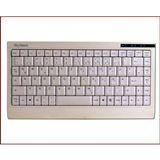 KeySonic ACK-595C+ Mini Tastatur Weiß Deutsch PS2/USB