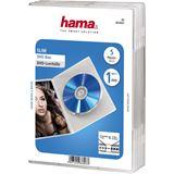 Hama 5er Pack transparente DVD-Slim- Leerhülle für Aufbewahrung (00083893)