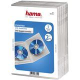 Hama 5er Pack transparente DVD-Doppel- Leerhülle für