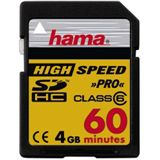 4 GB Hama Video SDHC Class 6 Bulk
