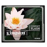 8 GB Kingston Standard Compact Flash TypI 133x Bulk