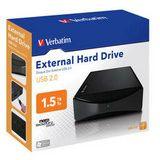 "1500GB Verbatim External Hard Drive 47513 3.5"" (8.9cm) USB 2.0"