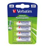 Verbatim HR03 Nickel-Metall-Hydrid AA Mignon Akku 2500 mAh 4er Pack