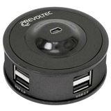 Revoltec RZ055 7-port USB 2.0 extern ohne Netzteil schwarz