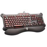 Saitek Cyborg V.5 Tastatur Schwarz/Rot Deutsch USB