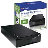 """HDE 2000GB Verbatim External Hard Drive 3.5"""" (8.89cm) Schwarz"""