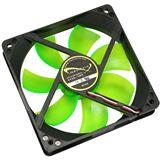 Nanoxia DX08 80x80x25mm 1200 U/min 10 dB(A) schwarz/grün