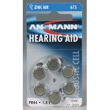 ANSMANN Hearing Aid PR44 Zink-Luft 1.4 V 6er Pack