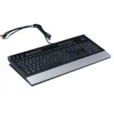Revoltec K101 Tastatur Schwarz/Silber Deutsch USB