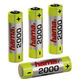 Hama HR6 AA / Mignon Nickel-Metall-Hydrid 2000 mAh 4er Pack
