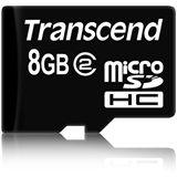 8 GB Transcend Standard microSDHC Class 2 Retail