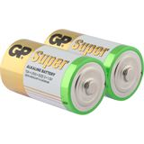 GP Batteries Super LR20 Alkaline D Mono Batterie 1.5 V 2er Pack
