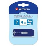 4 GB Verbatim Store `n` Go Drive New Retractable blau USB 2.0