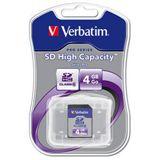 4 GB Verbatim Standard SDHC Class 6 Bulk