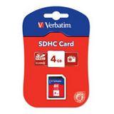 4 GB Verbatim Standard SDHC Class 4 Bulk