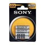 Sony Ultra Heavy Duty R03 Zink-Kohle AAA Micro Batterie 1.5 V 4er Pack