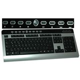 Evertech ET-4695 Multimedia Chromlock Tastatur Schwarz/Silber Deutsch