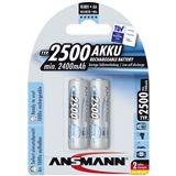 ANSMANN maxE HR6 Nickel-Metall-Hydrid AA Mignon Akku 2400 mAh 2er Pack
