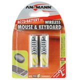 ANSMANN maxE Wireless HR6 Nickel-Metall-Hydrid AA Mignon Akku 2100 mAh 2er Pack