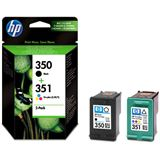 Hewlett Packard SD412EE Nr.350 Nr.351 schwarz Multicolor Pack