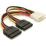 (€24,69*/1m) 0.16m Delock SATA Y-Stromadapterkabel Molex-Stecker auf 2xSATA Strom Stecker Schwarz