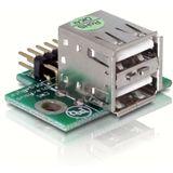 Delock 2x USB 2.0 Pin-Header Buchse für 2x USB 2.0 (41763)