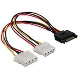 (€24,75*/1m) Good Connections Stromadapterkabel SATA Buchse auf 2x4pol Stecker