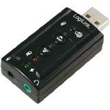 LogiLink Soundkarte mit Virtual 7.1 Soundeffekt USB 2.0