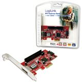 LogiLink LogiLink PCI Express Schnittstellenkarte SATA 1x + ESATA 1x