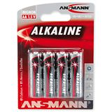 ANSMANN Red-Line LR6 Alkaline AA Mignon Batterie 1.5 V 4er Pack