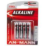 ANSMANN Red-Line LR03 Alkaline AAA Micro Batterie 1.5 V 4er Pack