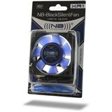 Noiseblocker NB-BlackSilentFan X1 Rev. 3.0 80x80x25mm 1300 U/min 10 dB(A) schwarz/blau/transparent