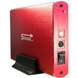 """Inter-Tech SinanPower G-3500 3.5"""" (8,89cm) USB 2.0 rot/silber"""
